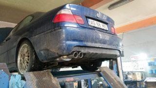 BMW 3.er E46 esapament complet 03 - Sisteme de esapament - Sisteme de esapament - Magazin sisteme de eșapament - Ornament esapament inox tips dublu P370