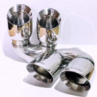 P362 R - Sisteme de esapament - Sisteme de esapament - Magazin sisteme de eșapament - Ornament esapament inox dublu rot x90mm P362-R