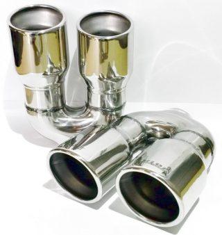 P364 R - Sisteme de esapament - Sisteme de esapament - Magazin sisteme de eșapament - Ornament esapament inox dublu rot x90mm P364-R