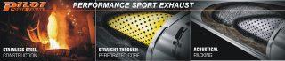 PILOT performance exhaust banner. - Sisteme de esapament - Sisteme de esapament - Magazin sisteme de eșapament - Toba inox sport PILOT-performance 2 iesiri PP5814S225D200S